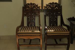 large wooden chairs...Click Here For Details