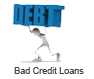 A bad credit loan is a loan offered to those with a history of poor credit.