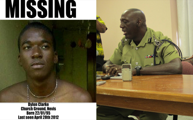 Missing teen and Commissioner Celvin 'CG' Walwyn
