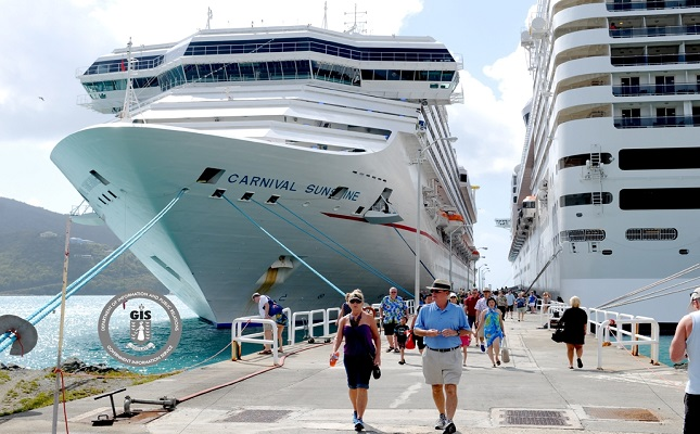 SKNVibes  BVI Welcomes Carnival Sunshine On First Trip To