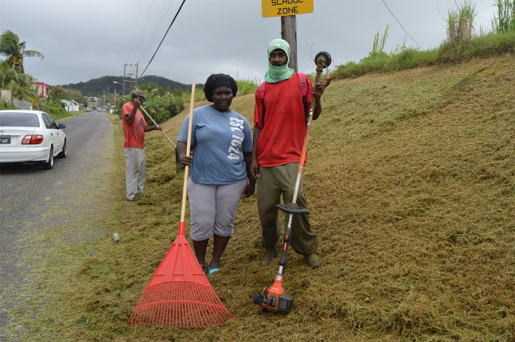 STEP clean-up crews are not just cutting grass but gaining skills to enhance livelihoods