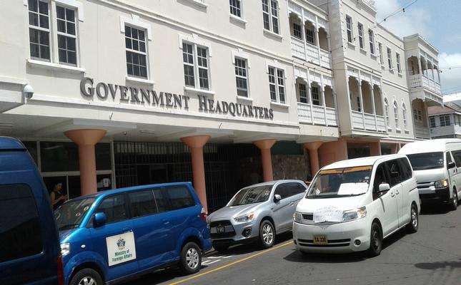 SKNVibes   Taxi/Tour operators protest unfair dispatch