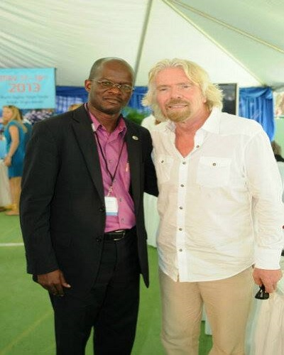Hon. Patrice Nisbett (left) and Sir Richard Branson