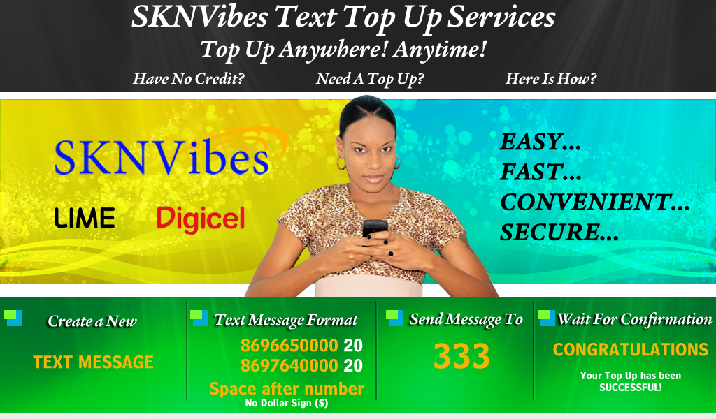 SKNVibes | Digicel & LIME Mobile Top Up Services